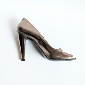 Marc by Marc Jacobs Copper Detailed D'Orsay Heel